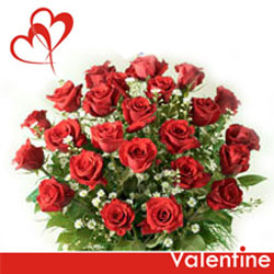 Online Bunch of 20 classic Red Roses gift shop in Gadag